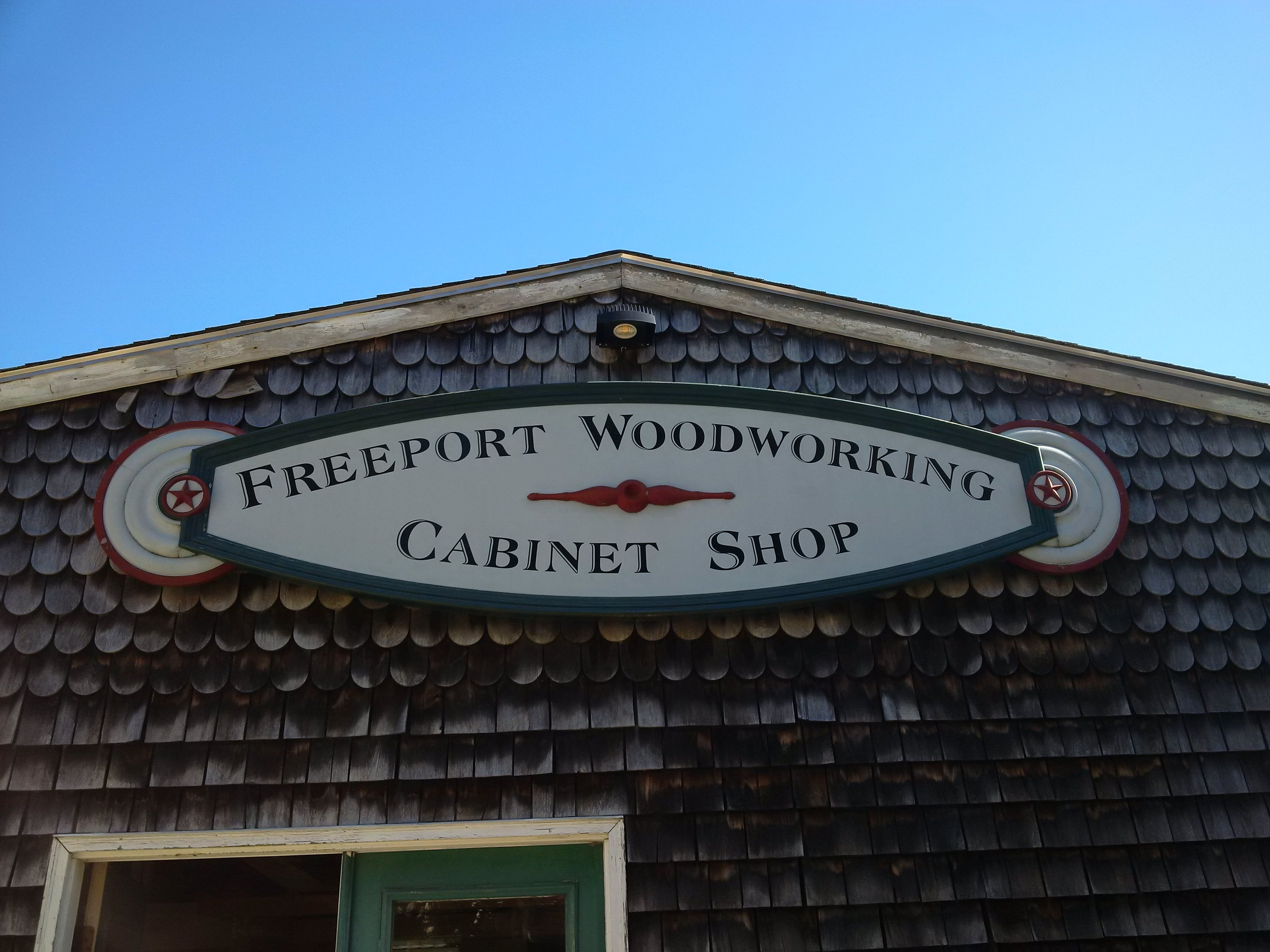 Freeport Woodworking Entrance